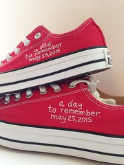 Custom his and hers embroidered converse - bride/groom