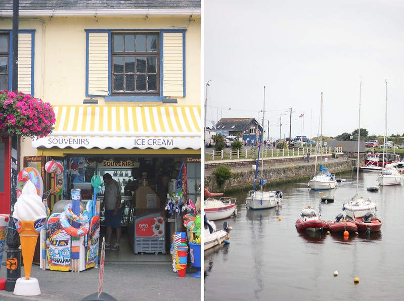 souvenir shop + harbour