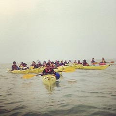 Tail end of our dawn paddle; zoomed on flat, calm waters. #sibu #7pgu #uwcsea_east