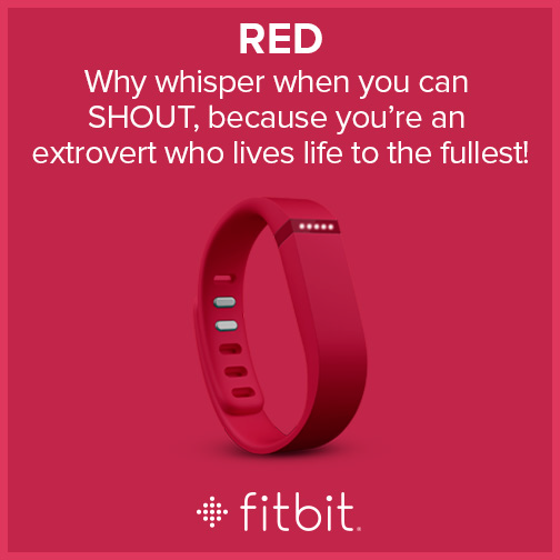 Fitbit Flex - Colors - Red