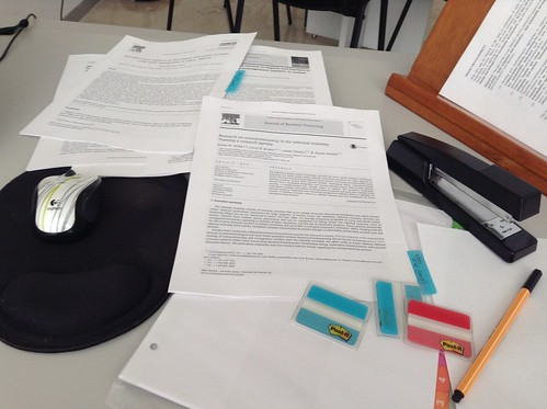 Working and filing journal articles