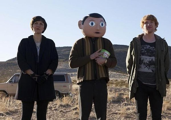 Maggie Gyllenhaal, Michael Fassbender and Domhnall Gleeson take eccentricity to new lengths in FRANK.