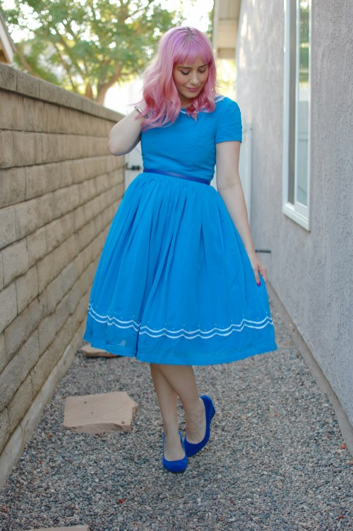 Modcloth Geode Blue Ribbon Baker dress 023