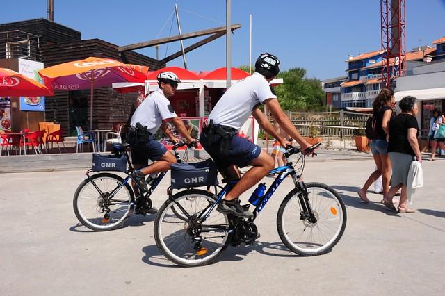 Police bike patrol Barra, Portugal