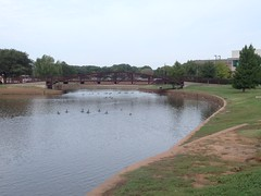 Sikes Lake With Bridge