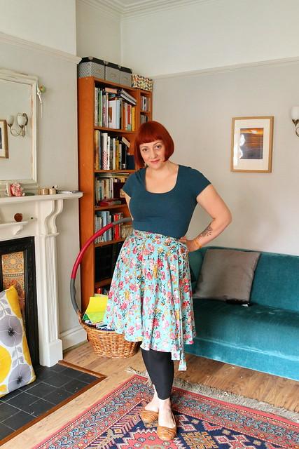wrap circle skirt