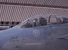 احد الطائرتين السعوديتين التي شاركت في ضرب اهداف في سوريا