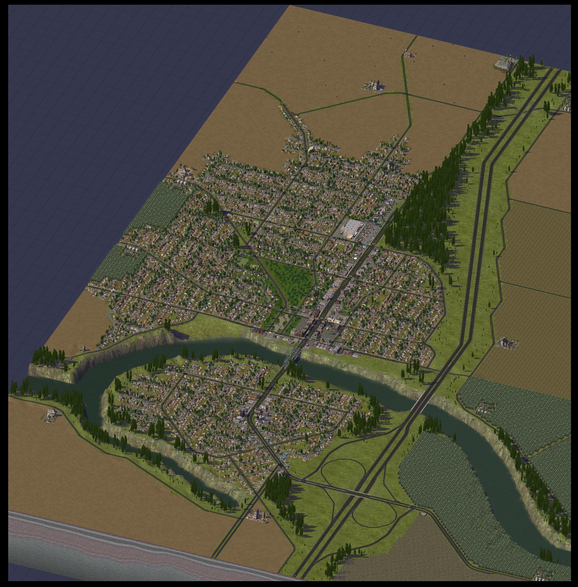 Cities Skylines 25 Tiles Mode - pointerogon