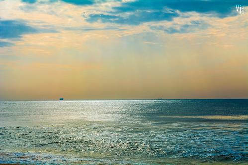 sea india seascape nature colors beautiful marina landscape coast seaside nikon horizon ngc madras mornings bliss marinabeach chennai naturallighting nikond5200 vjclickz