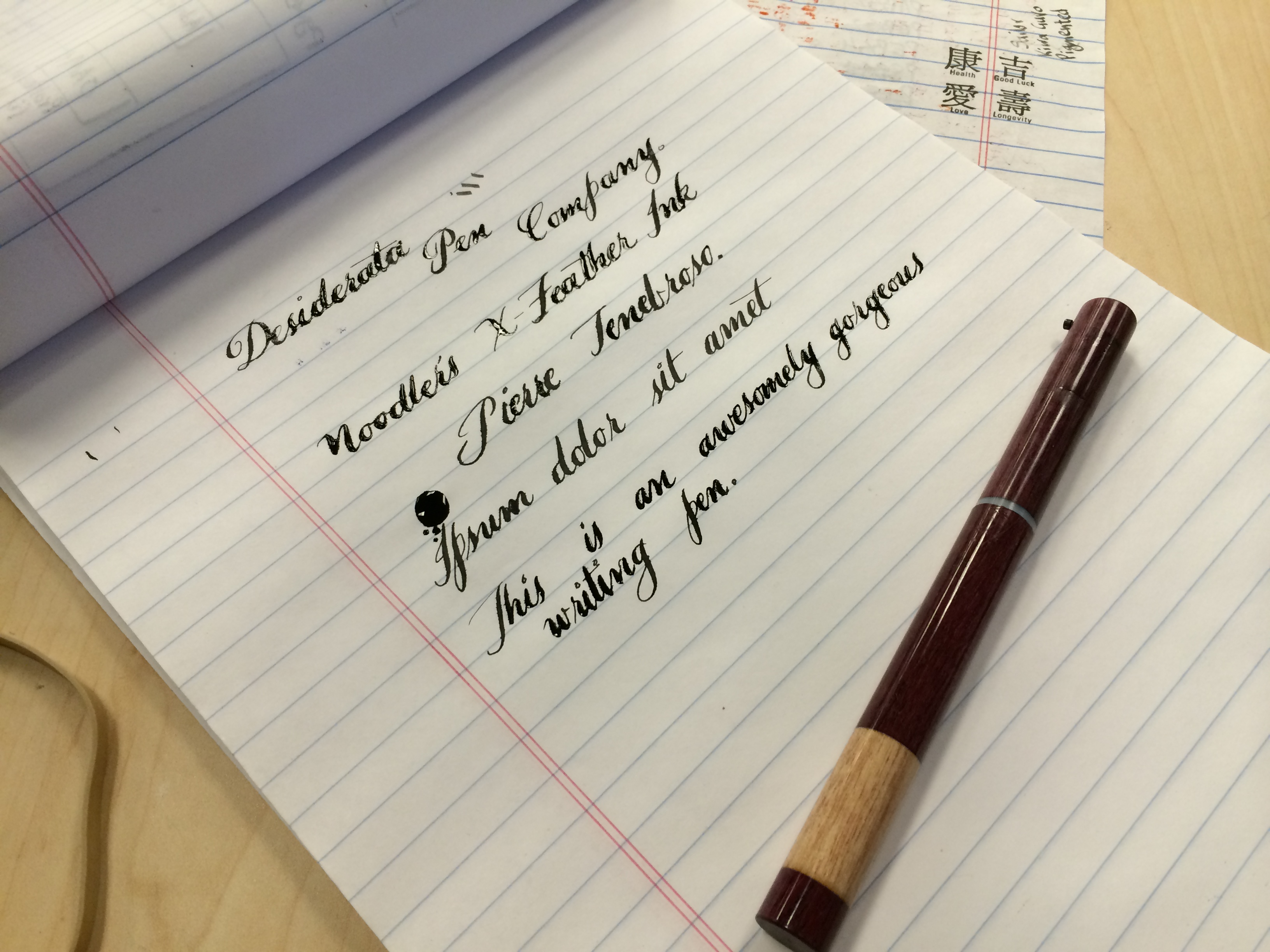 Writing Sample - Desiderata Purple Heart Cedar Wooden Flex