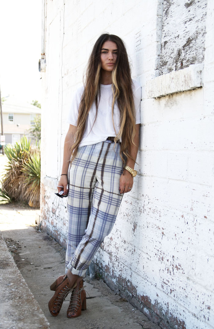 Fringe of the Cro | How to wear plaid trousers