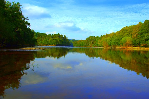trees nature water clouds reflections river scotland bluesky spey speyside knockando riverspey