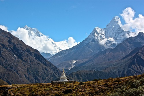 Gompa with a view of Lhotse and Amadablam