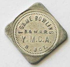 Boston & Maine Y.M.C.A. token obverse