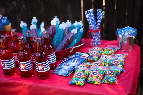 Captain America Party Favors #HeroesEatMMs #Shop