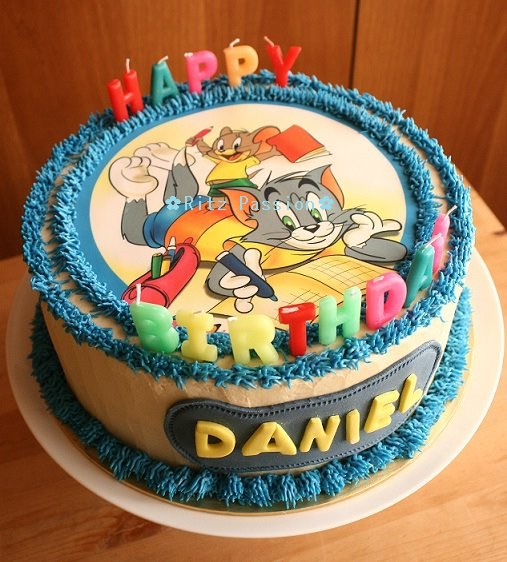Magnificent Ritz Passion Tom Jerry Birthday Cake Funny Birthday Cards Online Alyptdamsfinfo