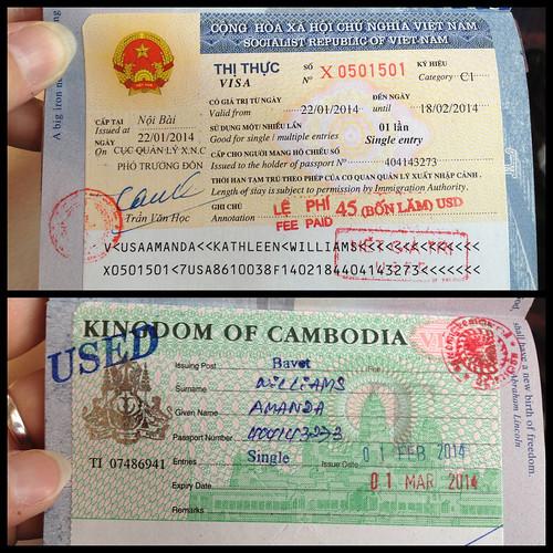 Southeast Asia visas