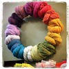 Shopping for supplies  at Twisted. They have a #yarn #wreath!