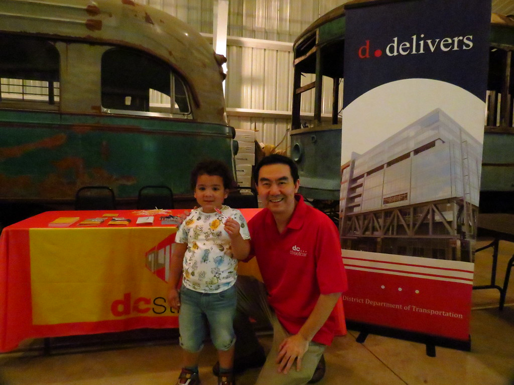 DC Streetcar at the Annual Transit Progress Day at the National Trolley Museum.