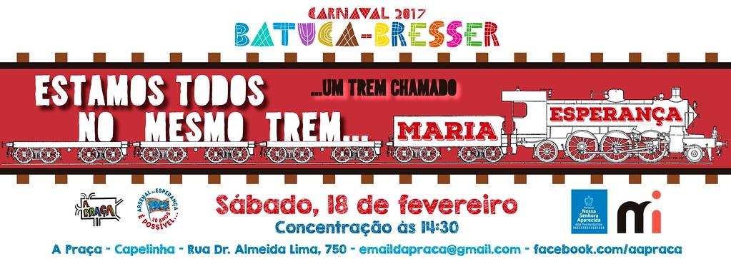 Carnaval 2017 – Bloco BATUCA-BRESSER – 18 de fevereiro