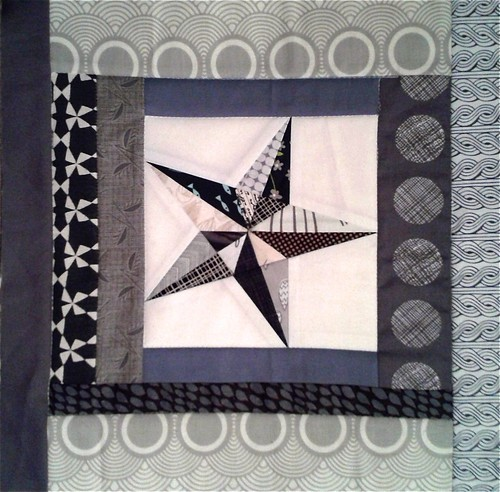 Another block from the scrap box for Soy Amado :)