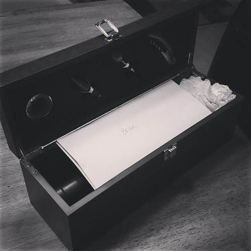 Tonight we dusted off our love letter and wine box. There's nothing like sappy, beautiful love letters written right before the wedding.