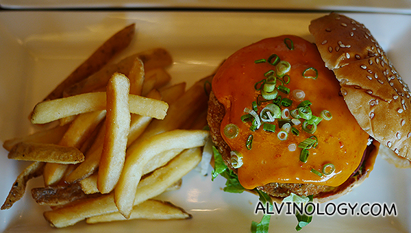 Singapore Chilli Crabcake Burger ($30)