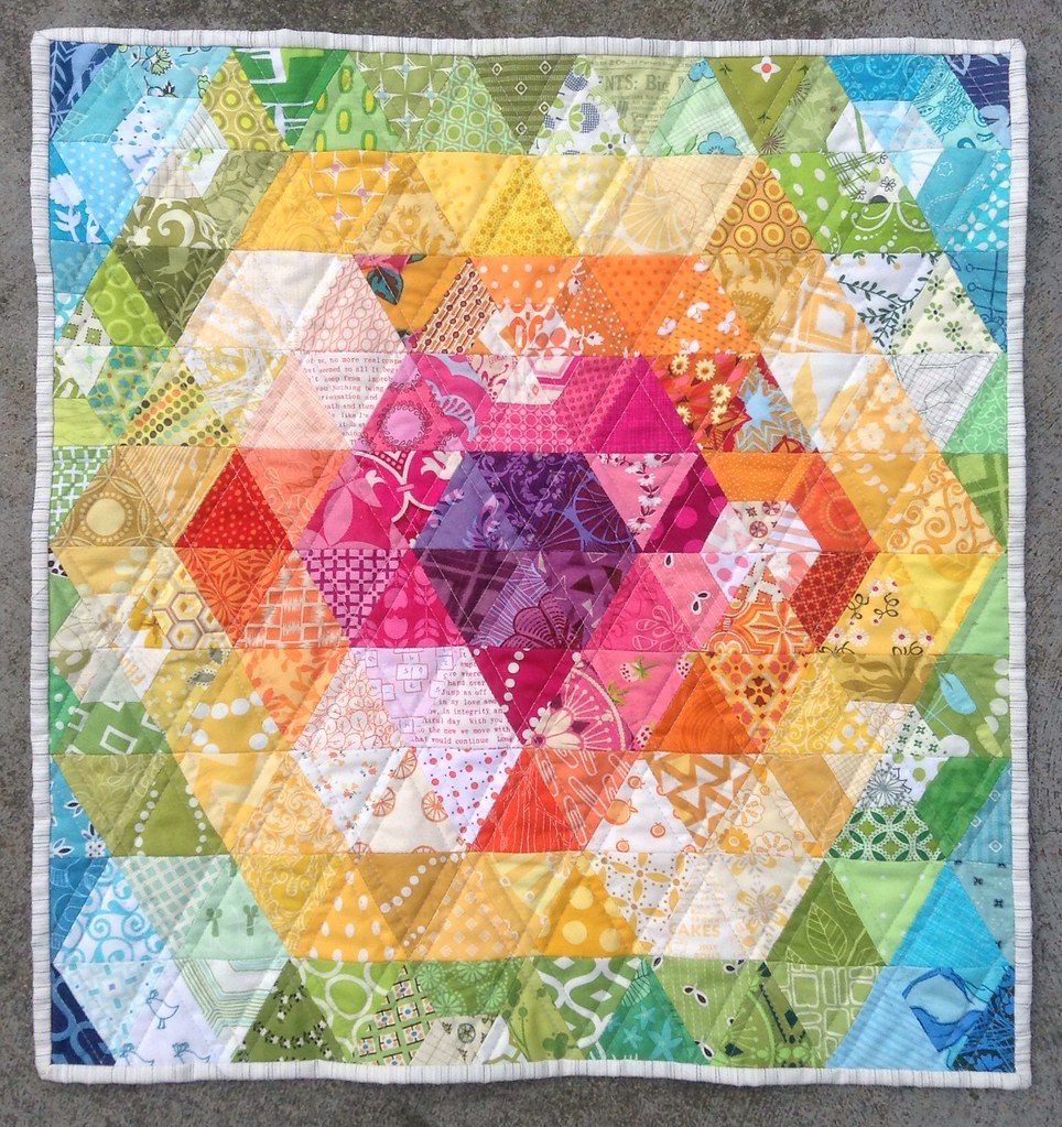 Patchwork Prism quilt completed