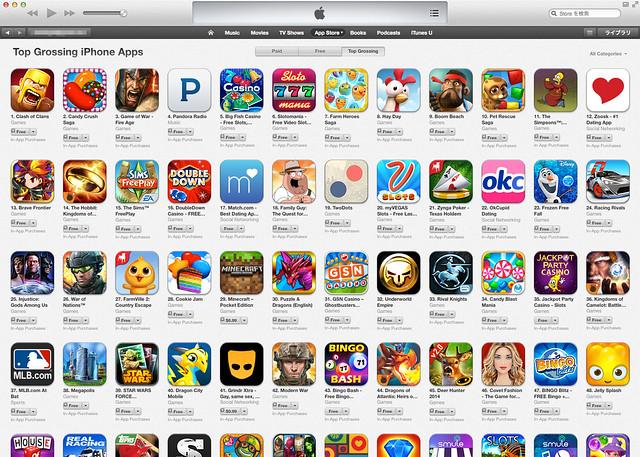 App Storeランキング米国トップセールス