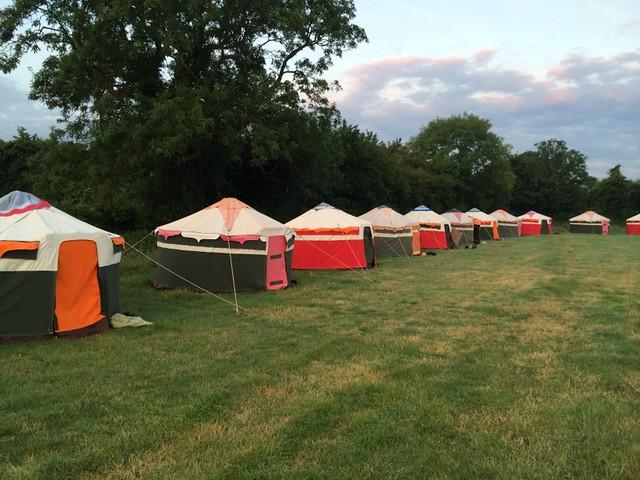 Yurts at Wild Meadow Village
