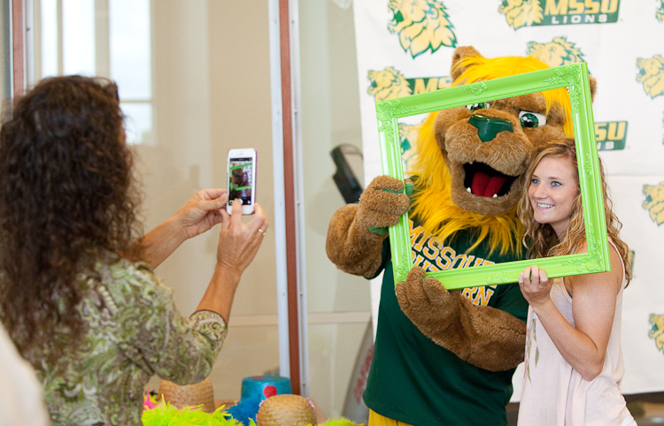 Take a selfie with Roary, our school mascot!