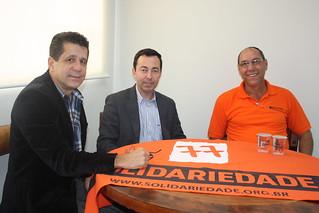 Aldo Gagliardi, presidente do Solidariedade de Bebedouro, e Chanel, pré-candidato a deputado estadual, têm reunião com direção nacional e estadual do Solidariedade