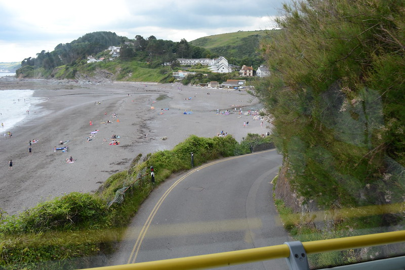 4. Dropping down the narrow hill into Seaton