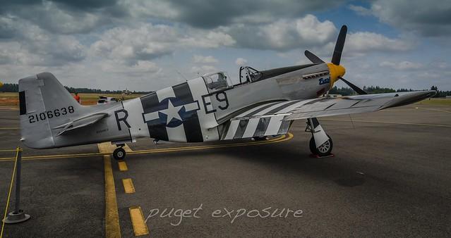 """Historic Flight Foundation P-51B Mustang """"Impatient Virgin"""""""