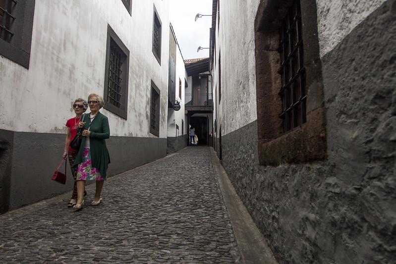 Funchal street near The Old Blandy Wine Lodge