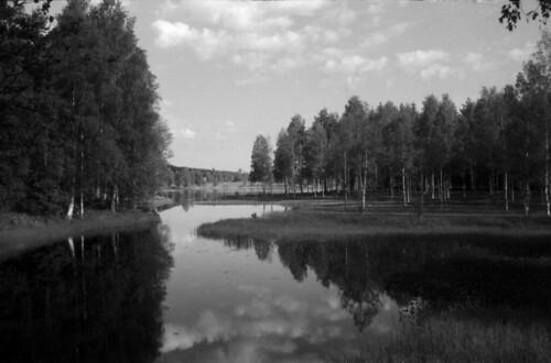 blackandwhite bw lake film clouds minolta rangefinder diafine filmphotography himatic9 polypanf