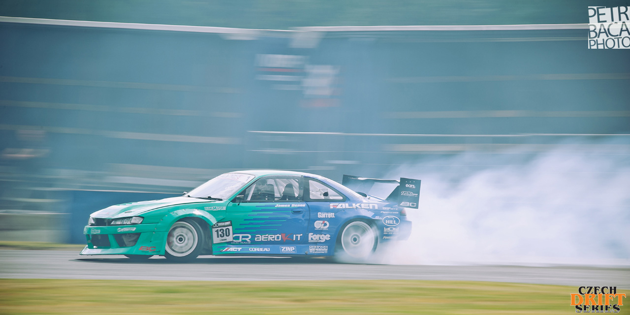 Czech Drift Series, CDS, Drift Allstars, Autodrom Sosnová, Česká Lípa, Nissan S14 Silvia, James Deane,