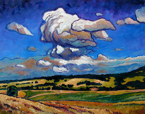 Clouds over Franconian Summer Landscape