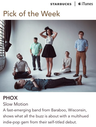 Starbucks iTunes Pick of the Week - PHOX - Slow Motion