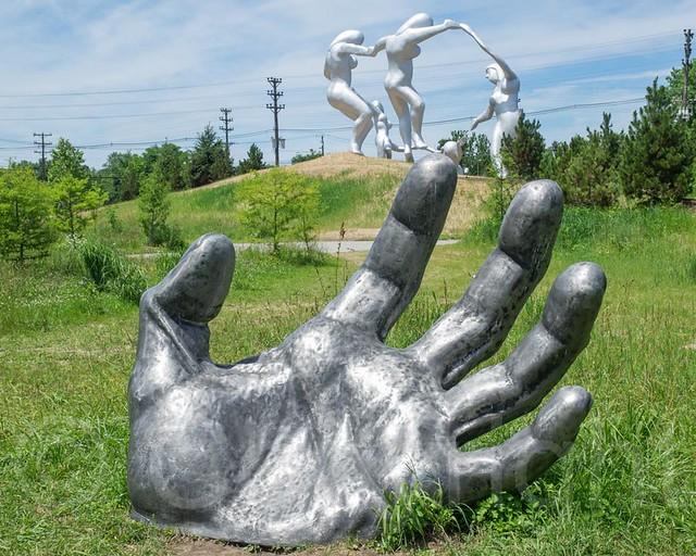 The awakening 2014 sculpture by seward johnson grounds for Johnson s farm nj