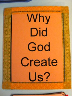 """Why Creation"" Hamburger Fold Book #1"