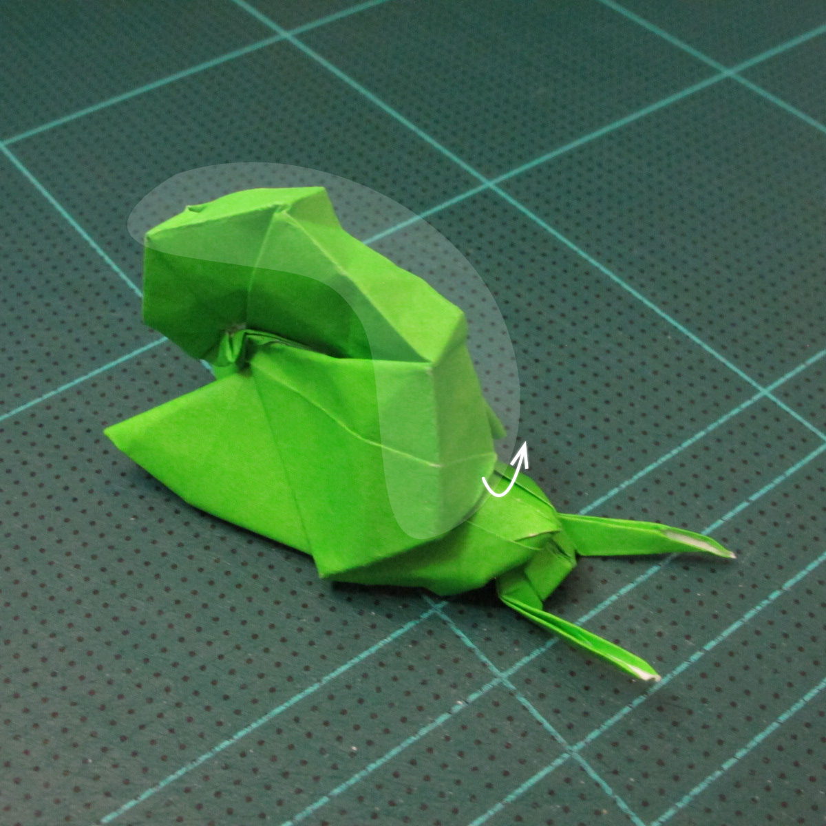 วิธีพับกระดาษเป็นรูปหอยทาก (origami Snail) 030