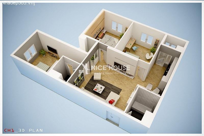 Thiết kế nội thất chung cư La Khê - Hà Nội_6