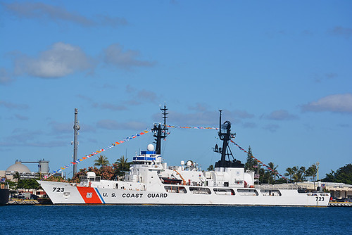 USCGC Rush dressed