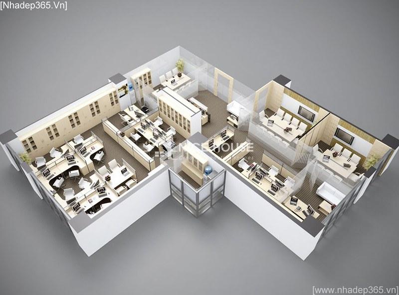 Thiết kế nội thất Văn Phòng công ty VJEC_02