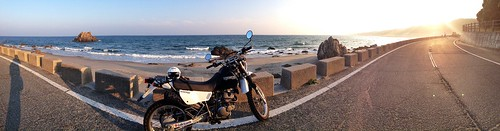 Pacific coast and my moto