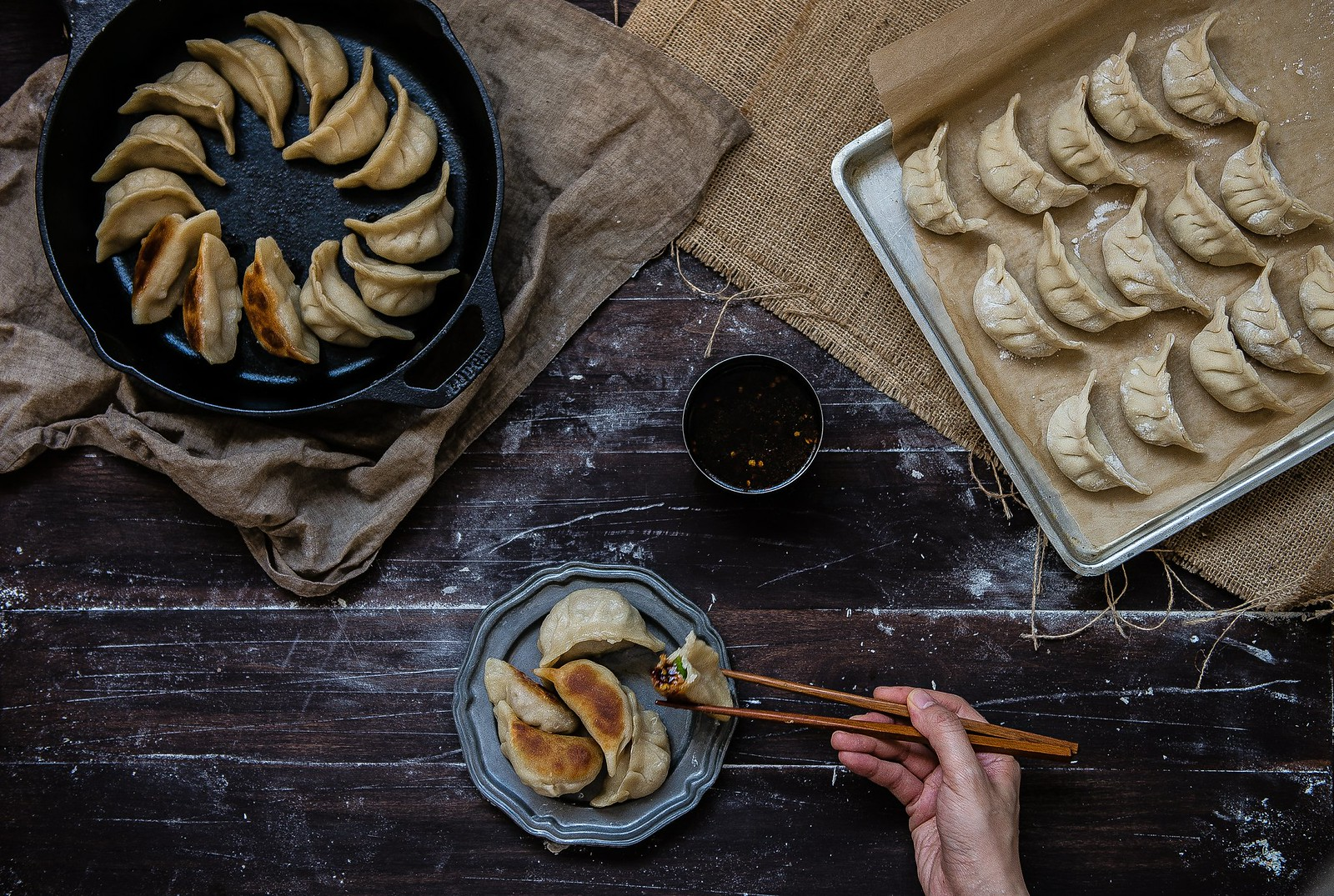 Potstickers (three ways), for Verily Magazine.