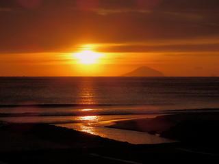 白浜大浜海水浴場からの日の出 Shirahama Ohama Beach Sunrise