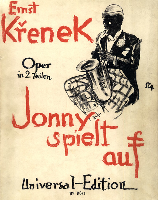 Ernst Krenek, Jonny spielt auf, cover of the piano score (1st ed.)