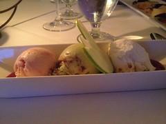 Seasonal Ice Creams — Strawbery, Sour Cream & Roasted Fig Leaf Hazelnut Crunch